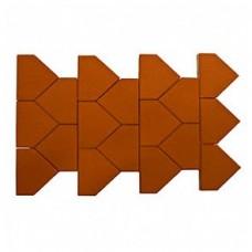 Плитка тротуарная ТИАРА вибропрессованная Красный | 283х200 | BRAER