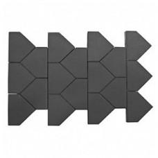 Плитка тротуарная ТИАРА вибропрессованная Серый | 283х200 | BRAER
