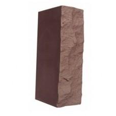 Кирпич силикатный утолщенный лицевой с рустированной тычковой гранью «Темно-коричневый» 1,4 НФ | 225x120x88 | M200 | Ковров