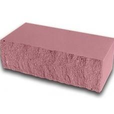 Кирпич силикатный утолщенный лицевой (декоративный) колотый «Розовый» 1,4 НФ | 250x60x88 | M200 | Ковров