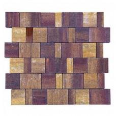 Плитка тротуарная СТАРЫЙ ГОРОД ЛАНДХАУС вибропрессованная Color Mix тип 3 Мальва | 160х160 | BRAER