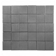 Плитка тротуарная ЛУВР вибропрессованная Серый | 200х200 | BRAER