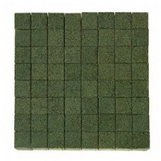 Плитка тротуарная ЛУВР вибропрессованная Гранит зеленый   100х100   BRAER