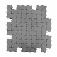 Плитка тротуарная ВОЛНА вибропрессованная Серый | 240х135х70 | BRAER