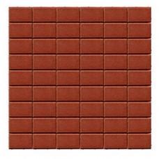Плитка тротуарная ПРЯМОУГОЛЬНИК вибропрессованная Красный | 200х100х60 | BRAER