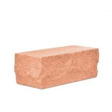 Кирпич силикатный одинарный лицевой рустрированный угловой «Оранжевый» 1 НФ | 225x95x65 | M200 | Ковров