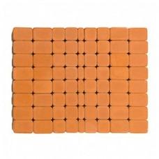 Плитка тротуарная КЛАССИКО вибропрессованная Янтарная | 57х115х60 | BRAER