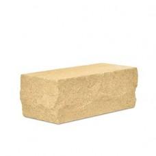 Кирпич силикатный одинарный лицевой рустированный угловой «Желтый» 1 НФ | 225х95х65 | М150 | Ковров