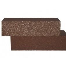 Кирпич силикатный одинарный лицевой (декоративный) колотый «Темно-коричневый» 1 НФ | 250x60x65 | M200 | Ковров