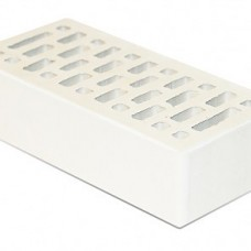 Кирпич облицовочный «Белый» пустотелый гладкий 1,4 НФ | 250х120х88 | М175 | Старый Оскол КЗ