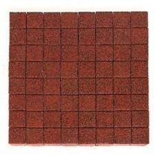 Плитка тротуарная ЛУВР вибропрессованная Гранит красный | 100х100 | BRAER