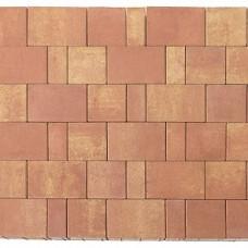Плитка тротуарная СТАРЫЙ ГОРОД ЛАНДХАУС вибропрессованная Color Mix тип 10 РАССВЕТ | 80х160 | BRAER
