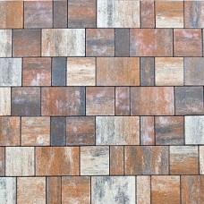 Плитка тротуарная СТАРЫЙ ГОРОД ЛАНДХАУС вибропрессованная Color Mix тип 4 Койот | 80х160х80 | BRAER