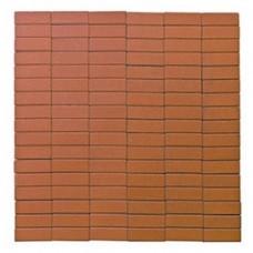 Плитка тротуарная ПРЯМОУГОЛЬНИК вибропрессованная Оранжевый | 200х50х60 | BRAER
