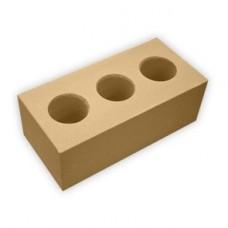 Кирпич силикатный утолщенный лицевой пустотелый (3) «Желтый» 1,4 НФ | 250х120х88 | М150 | Ковров