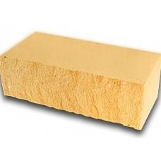 Кирпич силикатный утолщенный лицевой (декоративный) колотый «Желтый» 1,4 НФ | 250x60x88 | M200 | Ковров