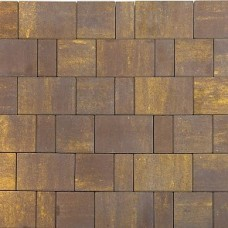 Плитка тротуарная СТАРЫЙ ГОРОД ЛАНДХАУС вибропрессованная Color Mix тип 18 МУСКАТ | 80х160 | BRAER