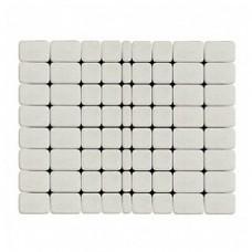 Плитка тротуарная КЛАССИКО вибропрессованная Белый | 172х115 | BRAER