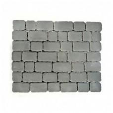 Плитка тротуарная РИВЬЕРА вибропрессованная Серый | 133х132х60 | BRAER