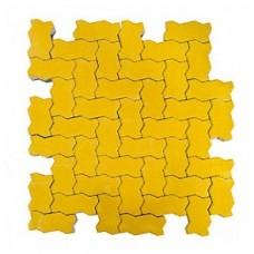 Плитка тротуарная ВОЛНА вибропрессованная Желтый   240х135х80   BRAER