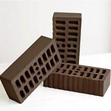 Кирпич облицовочный одинарный пустотелый «Темный Шоколад» 1 НФ | 250х120х65 | М150 | Клим Клинкер