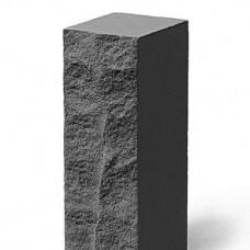 Кирпич силикатный одинарный лицевой рустированный угловой «Черный» 1 НФ | 250x95x65 | M200 | Ковров